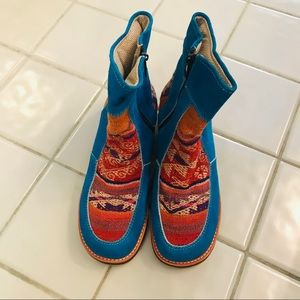 PERUVIAN Boots, Authentic, Handmade, Ethnic, Sz 7